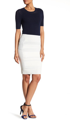 Yigal Azrouel Ottoman Stitch Skirt $625 thestylecure.com