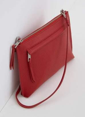 Mint Velvet Paige Red Zip Cross Body Bag