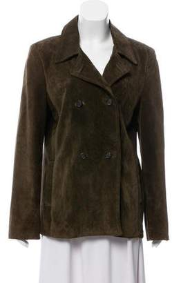 KORS Double-Breasted Suede Coat