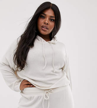 Asos DESIGN Curve lounge ribbed soft hoodie
