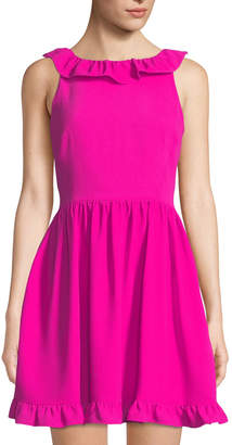 Kate Spade scenic route ruffle-back fit-and-flare dress