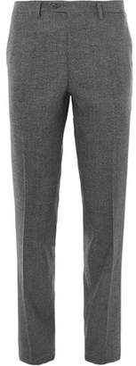 Brioni Melange Wool Trousers - Men - Gray