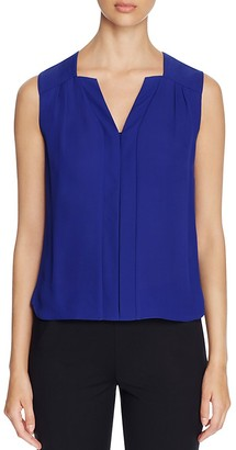 Elie Tahari Sheyda Pleat Silk Top $198 thestylecure.com