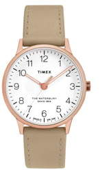 Timex Waterbury Leather Strap Watch, 36mm