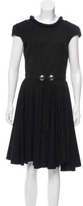 Dolce & Gabbana Virgin Wool Keyhole-Accented Dress