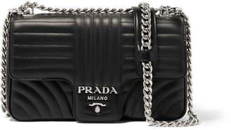 Prada Quilted Leather Shoulder Bag - Black