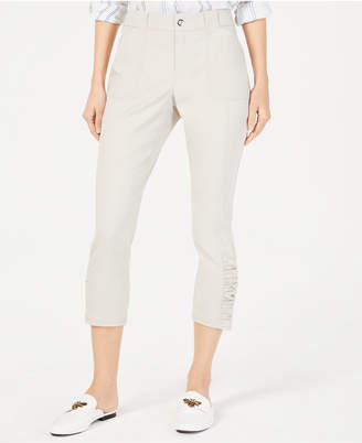INC International Concepts I.n.c. Curvy Ruched-Hem Cropped Pants