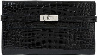Hermes Kelly Black Alligator Wallets