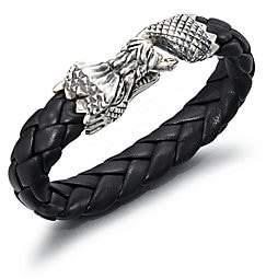King Baby Studio Men's Leather Bracelet