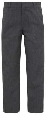 George Boys Grey Slim Fit School Trousers