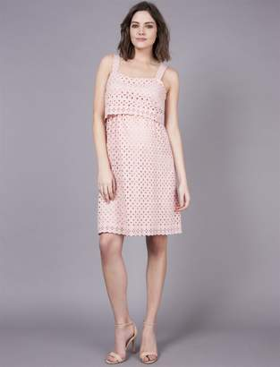 A Pea in the Pod Seraphine Ashley Embroidered Nursing Dress