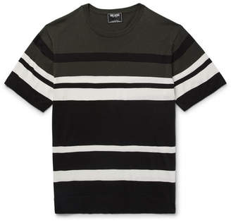 Slim-Fit Striped Silk And Cotton-Blend Sweater