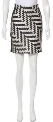 Christian Siriano Patterned Mini Skirt