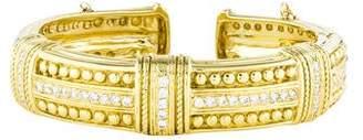 Judith Ripka 18K Diamond Cuff Bracelet