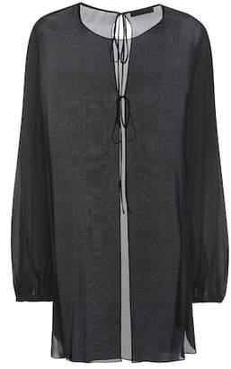The Row Latou silk top