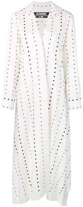 Jacquemus polka dots shirt dress