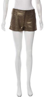 Alice + Olivia Metallic Tweed Shorts