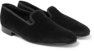 George Cleverley Albert Velvet Slippers