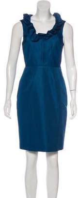 Lela Rose Silk Mini Dress