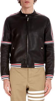 Thom Browne Men's Buffalo Leather Cropped Jacket