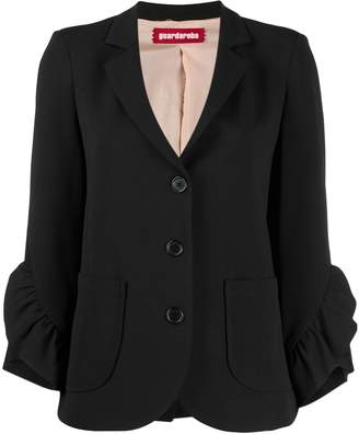 Guardaroba ruffled sleeve blazer