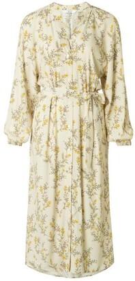 Ya-Ya Flower Print Bone Dress - EU34 UK6