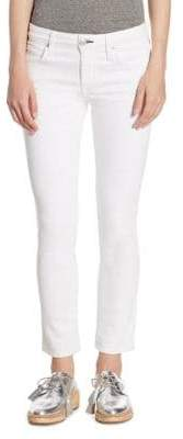 Amo Bow Zip Cuff Cropped Skinny Jeans