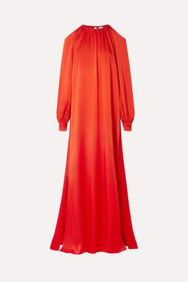 28a8bcdc1b6 Rosetta Getty Cold-shoulder Satin Maxi Dress - Tomato red