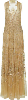 Cucculelli Shaheen Solaris Metallic Tulle Dress
