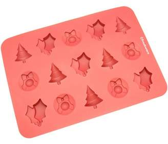 Freshware 15-Cavity Christmas Silicone Mold for Chocolate, Candy, Gummy and Jelly, CB-119RD