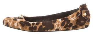 Balenciaga Animal Print Ponyhair Flats