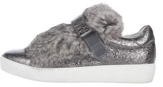 Moncler Luice Metallic Fur Sneakers