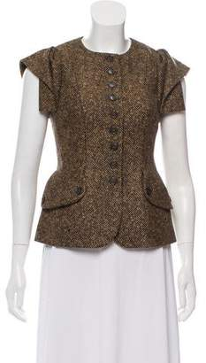 Michael Kors Virgin Wool Patterned Vest