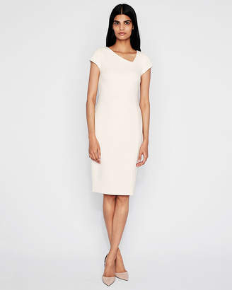 Express Asymmetrical Neck Sheath Dress