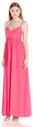 Amanda Uprichard Women's Silk Maxi Gown Dress
