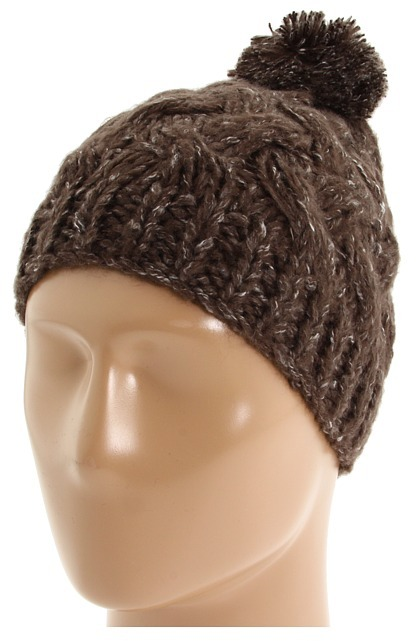 Echo Design - Chunky Pom Hat (Dark Brown) - Hats