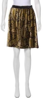 Etro Velvet Silk Skirt Brown Velvet Silk Skirt