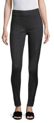 Helmut Lang Seamed Coated Leggings