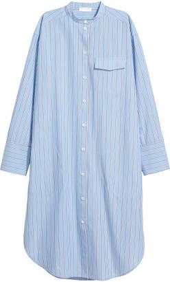 H&M Pima Cotton Shirt Dress - Blue