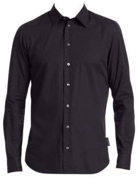Emporio Armani Tonal Stripe Button-Down Shirt