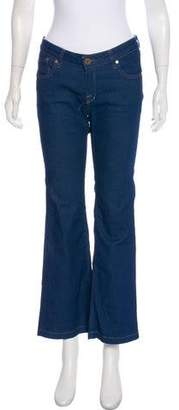 Victoria Beckham Mid-Rise Wide-Leg Jeans