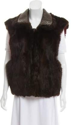 Andrew Marc Opossum Fur Vest