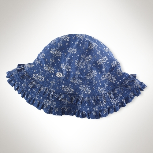 Indigo Floral Sun Hat