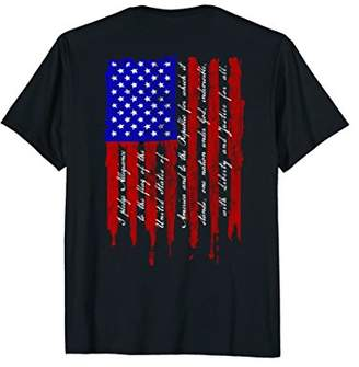 Pledge of Allegiance Patriotic American Flag T Shirt