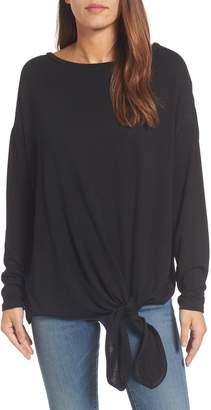 Caslon Tie Front Sweatshirt