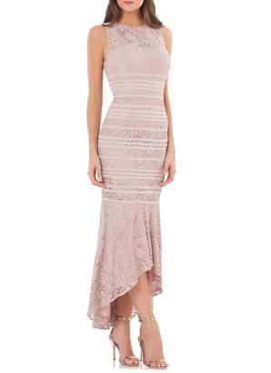 JS Collections Women's Hi-Lo Lace Gown