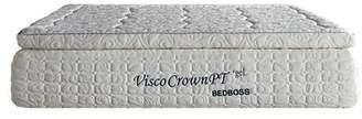 """13"""" Crown Pt Pillow Top Memory Foam Mattress by Bed Boss King"""