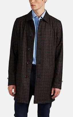 Loro Piana Men's Reversible Checked Flannel & Tech-Twill Jacket - Brown