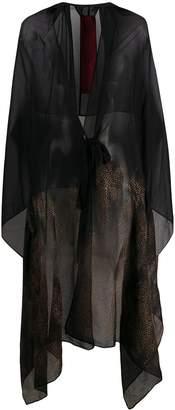 Masnada draped silk tied kaftan