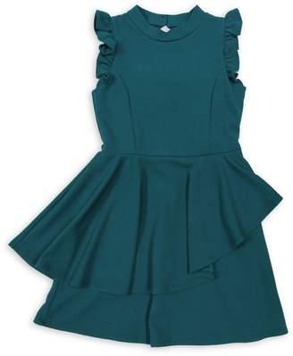 Ava & Yelly Girl's Ruffle Peplum Dress
